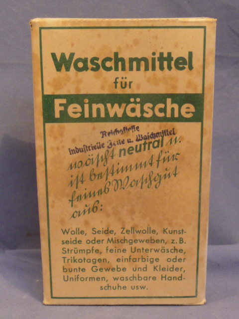 Original WWII German Laundry Detergent (for UNIFORMS), 80 Liter Size