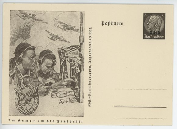 Original WWII German Postcard, LW Wireless Operator�s Badge