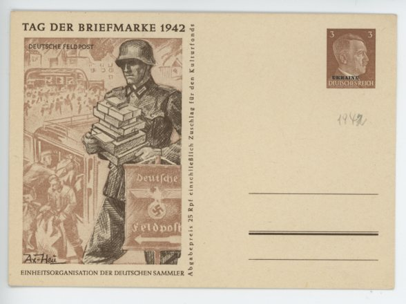 Original WWII German Commemorative Postcard, Deutsche Feldpost