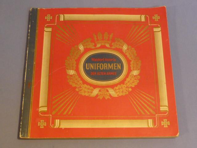 Original Pre-WWII German Cigarette Card Album, Uniforms of the Old Army