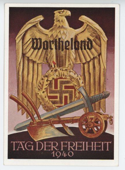 Original WWII German Postcard, DAY OF FREEDOM