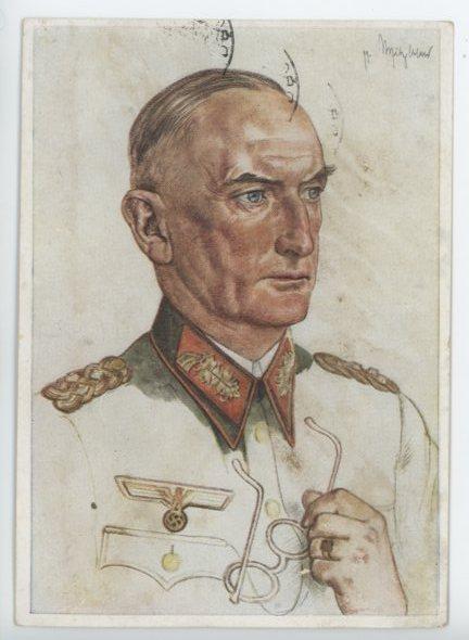 Original WWII German Personality Postcard