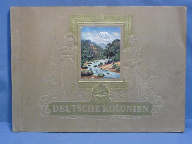 Original 1936 German Cigarette Card Album, German Colonies
