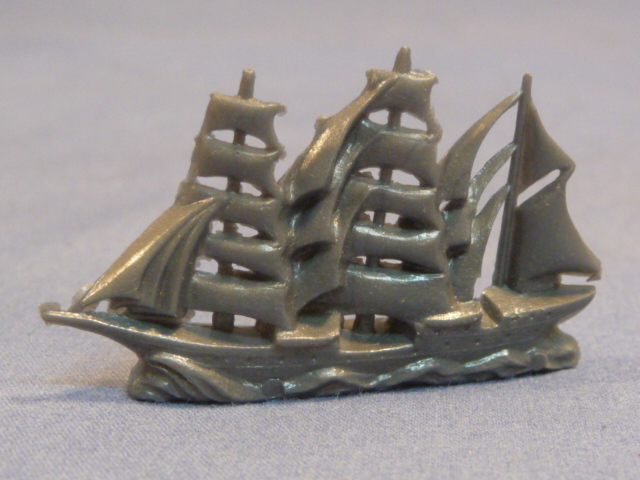 Original WWII German WHW Donation Figure, Old Style Ship