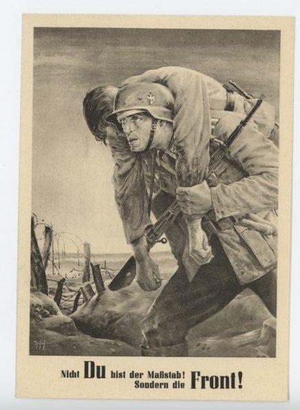 Original WWII German Commemorative Postcard, Day of the NSDAP