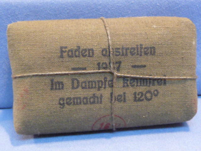 Original 1937 German Soldiers 1st Aid Bandage, Small