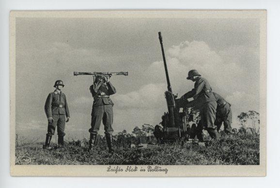 Original Nazi Era German Military Themed Postcard, LW FLAK!!!