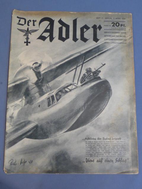 Original WWII German Luftwaffe Magazine, Der Adler