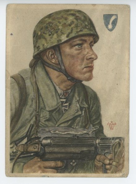 Original WWII German Military Themed Postcard, Fallschirmj�ger!!!
