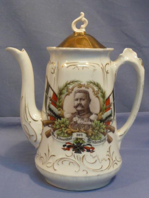 Original WWI German von Hindenburg Decorative China Coffee Server