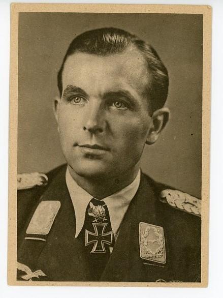 Original WWII German Personality Postcard, Major Herbert Ihlefeld