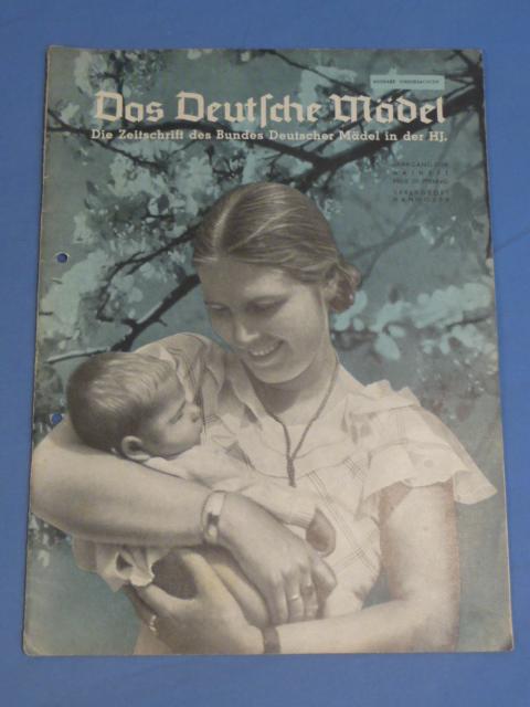 Original 1939 German Hitler Youth Magazine, The German Girl