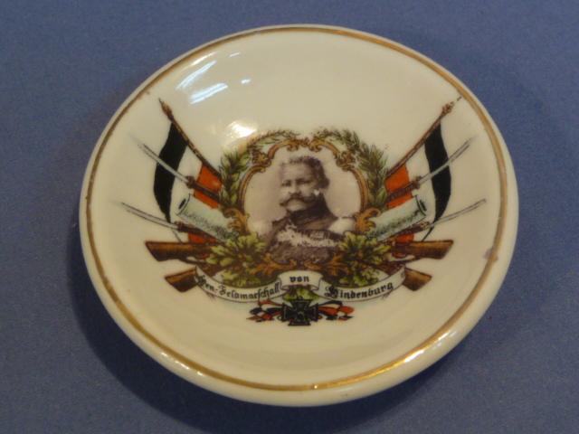 Original WWI German von Hindenburg Decorative Small Plate