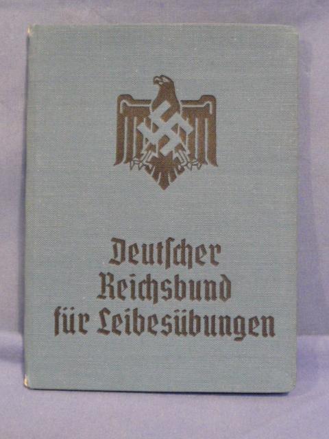 Original WWII German DRL Members ID / Dues Book, Unused