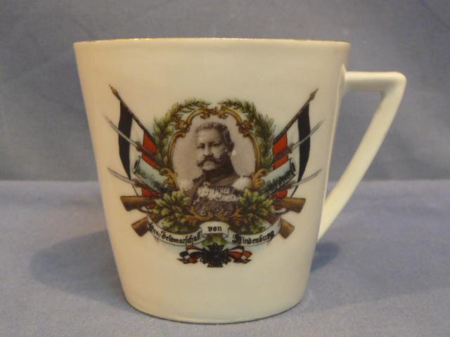 Original WWI German von Hindenburg Decorative Small Cup