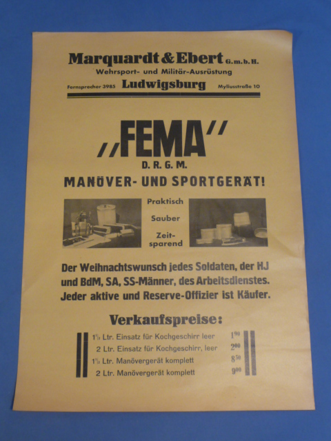 "Original Pre-WWII German ""FEMA"" Advertisement Poster"