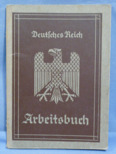 Original WWII German Arbeitsbuch, 1st Type
