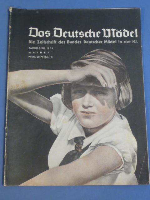 Original 1935 German Hitler Youth Magazine, The German Girl