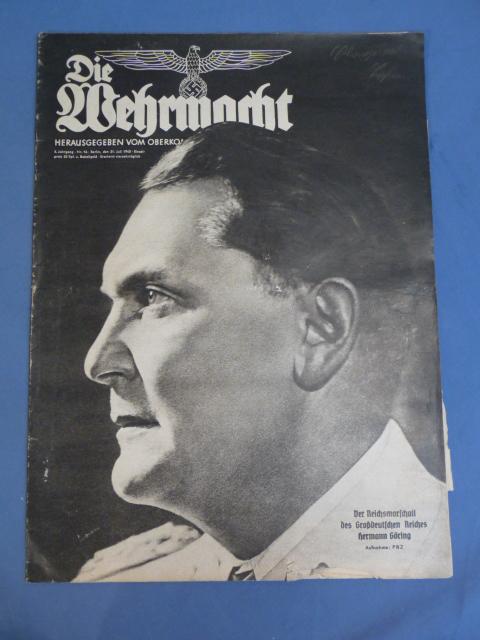 Original WWII German Magazine, Die Wehrmacht