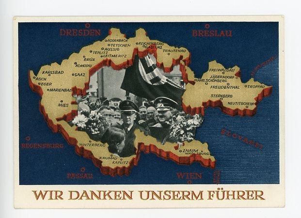 Original 1938 German Postcard, THANK OUR LEADER