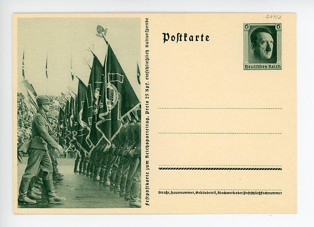 Original Nazi Era German Commemorative Postcard, Reichs Party Day