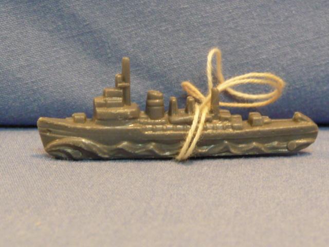 Original WWII German WHW Donation Plastic War Ship
