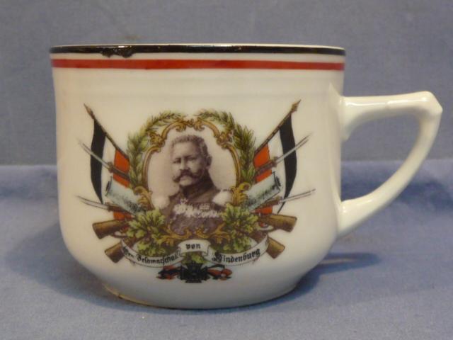 Original WWI German von Hindenburg Decorative Coffee Cup