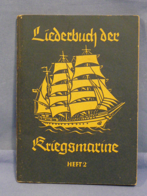 Original WWII German Kriegsmarine (Navy) Song Book