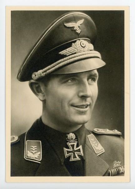 Original Nazi Era German Personality Postcard, Hauptmann Ihlefeld