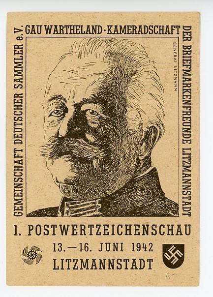 Original WWII German Postcard, POSTWERTZEICHENSCHAU