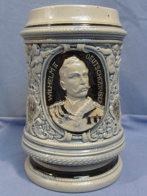Original WWI German Military Themed Decorative Stein