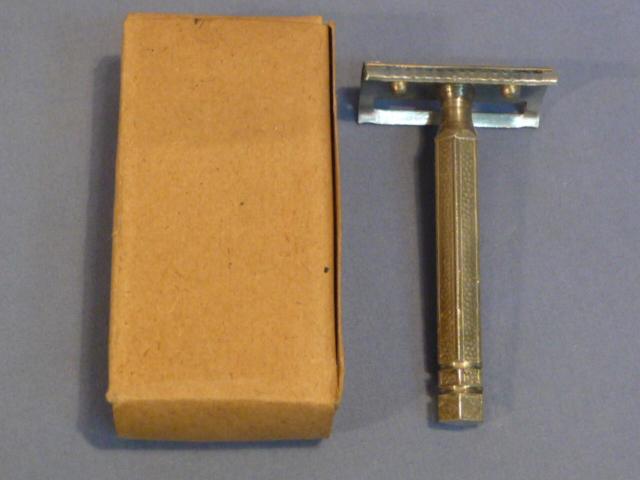 Original WWII Era German Metal Safety Razor with Box