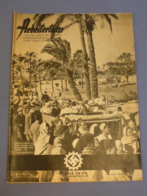 Original 1938 German DAF Magazine, ARBEITERTUM