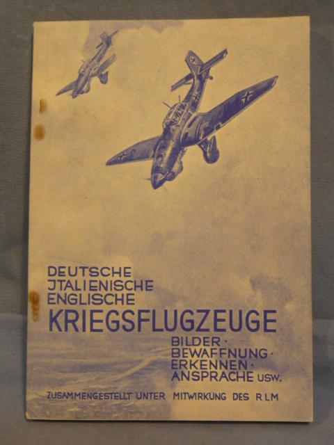 Original WWII German Book on German, Italian & English Planes