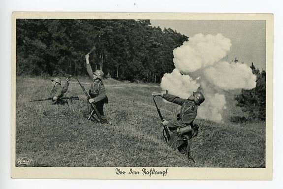 Original WWII German Military Themed Postcard, OUR ARMY