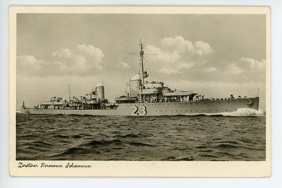Original WWII German Military Themed Postcard, Kriegsmarine