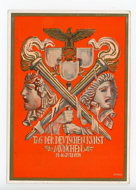 Original 1939 German Commemorative Postcard, Reichs Party Day