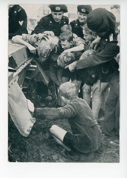 Original WWII Era German Postcard, The Secrets of a Armored Vehicle