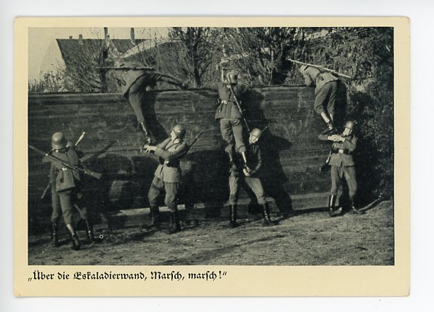 Original Pre-WWII German Wehrmachtsfoto Postcard, March March!