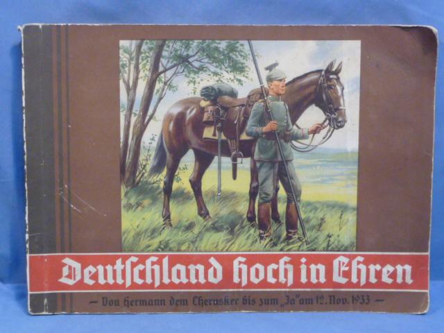 Original 1933 German Cigarette Card Album, Germany In High Honor