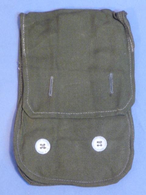 Original WWII German Late War Pig-Snout Style Gas Mask Bag