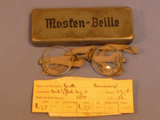 Original WWII German Masken-Brille (Gas Mask Glasses)