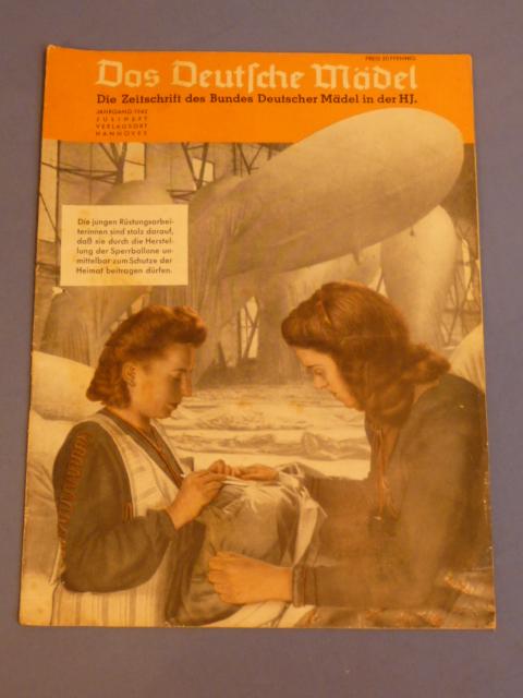 Original WWII German Hitler Youth Magazine, The German Girl