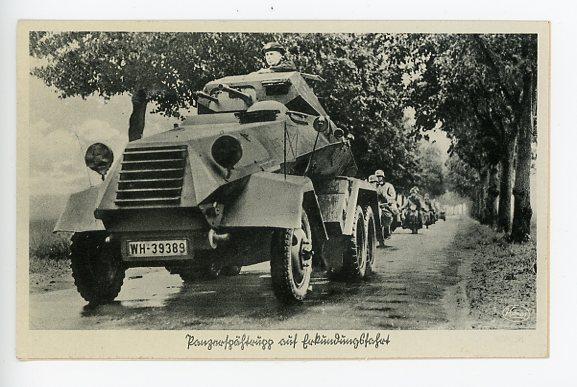 Original WWII Era German Military Themed Postcard, Our Army