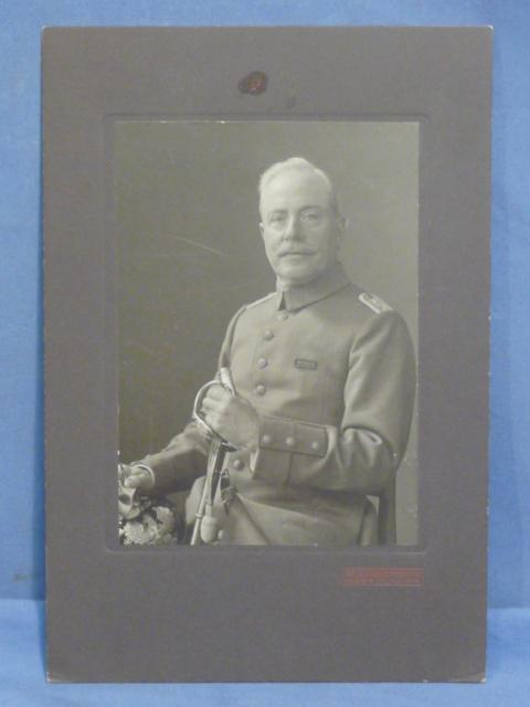 Original WWI German Matted Photograph, July 7 1915