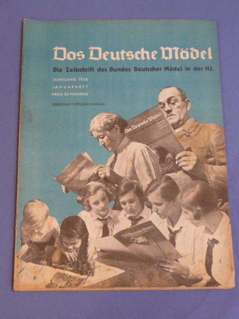 Original WWII German Hitler Youth Magazine, The German Girl