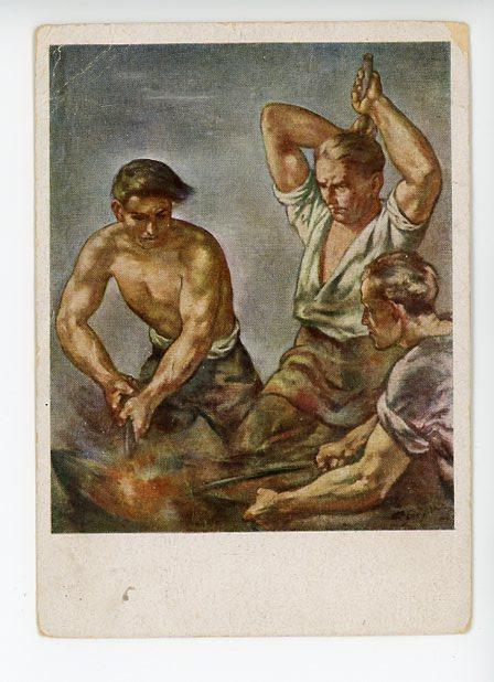 Original Nazi Era German Art Postcard