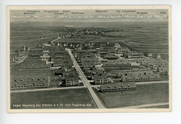 Original Nazi Era German Postcard, Camp Heuberg near Stetten