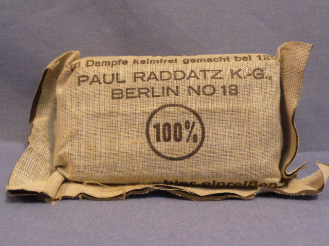 Original WWII German Soldiers 1st Aid Bandage, Small
