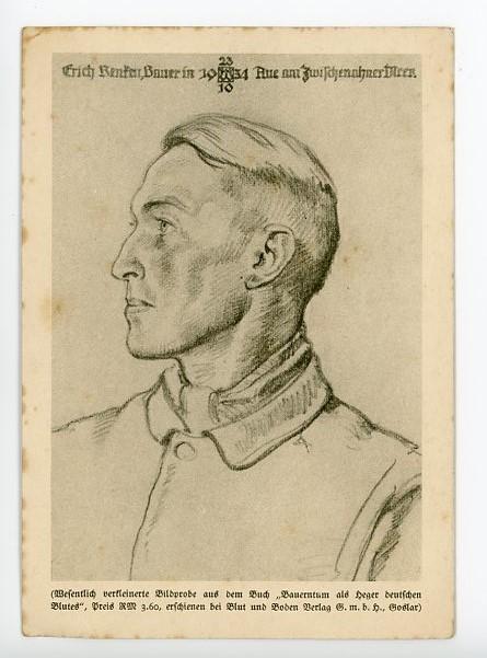 Original Nazi Era German Personality Postcard, Erich Renken